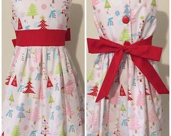 Baby Girls Christmas Dress - Girls Dress -  Girls Christmas Outfit - Christmas Gift for Granddaughter- 1st Christmas Dress - Girls - Xmas