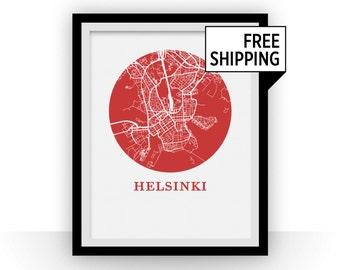 Helsinki Map Print - City Map Poster