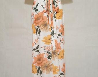 60s 70s La Voy's Floral Maxi Dress