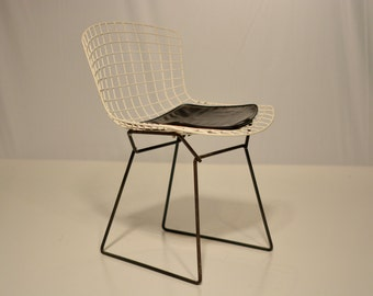 Koll Bertoia Side Chair with Black Pad