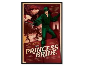 The Princess Bride Retro Alternative Movie Poster Print // 1930s 1940s Romance Adventure Pirate Movie Inspired Pop Art