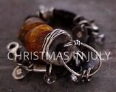 SALE ! use coupon code CIJ15 Baltic amber bracelet • raw sterling silver  925 • leather bracelet  •  charm bracelet