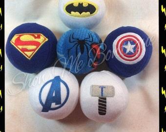 5x7 Super Hero In The Hoop Stuffed Balls