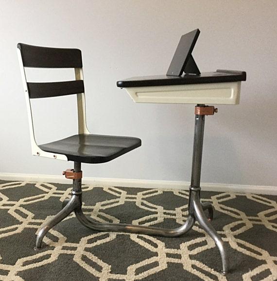 Sale Vintage School Desk Chair Combo American Seating