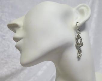 Diamonte dangley earrings- just beautiful!