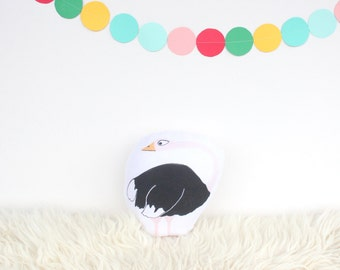 "Ostrich Plush Animal Toy, 6"""