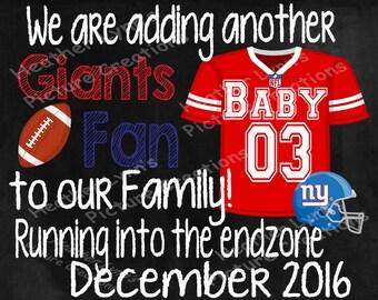 Pregnancy Announcement , Football Pregnancy Announcement