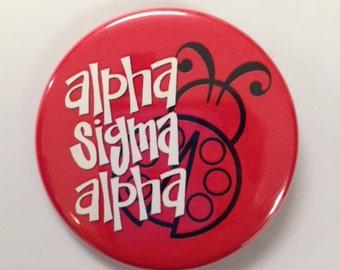 Alpha Sigma Alpha Mascot Button or Magnet