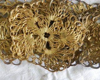 ITEM Of The Week - BARGAIN SALE - Vintage Accessory - Gold Metal Belt - Made in Greece - Original Vintage Accessory - 102 cm