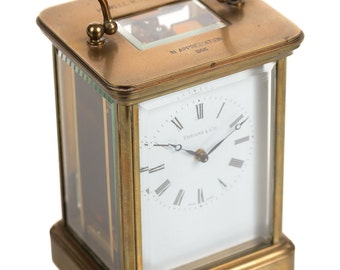 Tiffany Vintage Brass Carriage Clock