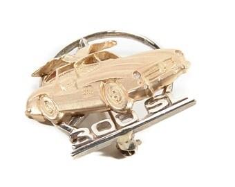 Mercedes 350SL Gullwing Vintage 14K gold Brooch Pin -Rare
