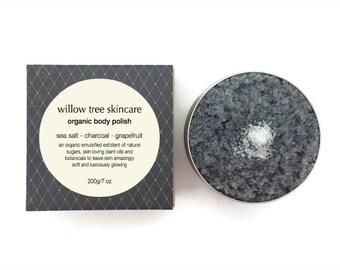 Organic Body Polish- Detox Blend with Activated Charcoal, Exfoliating and Moisturising
