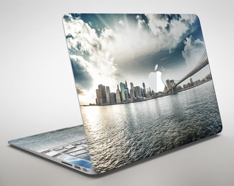 Vivid Cloudy Sky Over The City Skyline - Apple MacBook Air or Pro Skin Decal Kit (All Versions Available)