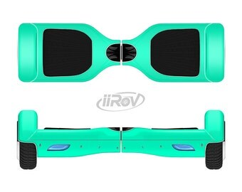 The Solid Mint V3 Full-Body Skin Set for the Smart Drifting SuperCharged iiRov HoverBoard