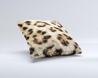 Real Cheetah Animal Print ink-Fuzed Decorative Throw Pillow