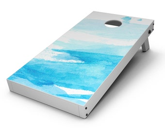 Abstract Blue Strokes - Cornhole Board Skin Kit