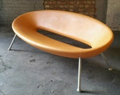 Sold    Kartell Ploof SOFA by Philippe Starck Original MUSTARD Made in Italy 2-3 SEATER