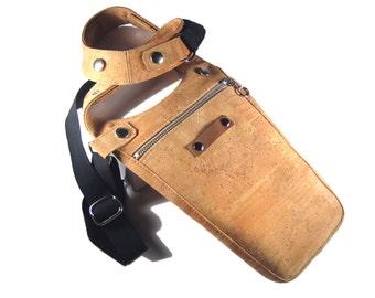 "Holster Tasche Kork Männertasche Korkstoff Holstertasche Revolverbag Korktasche naturell Bodyholster Tasche Mann Holster ""Cullen"""