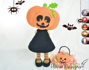 Pattern - Pumpkin Head Doll