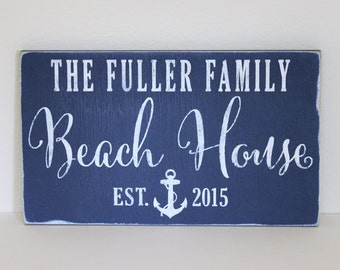 personalized beach house sign, beach house, beach decor, personalized sign