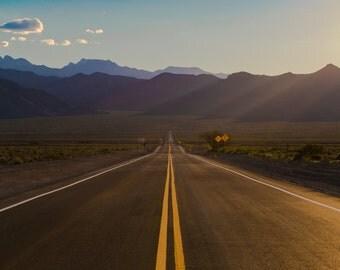 Highway to Heaven, Nevada Landscape Fine Art Photograhy, Print, Wall Art
