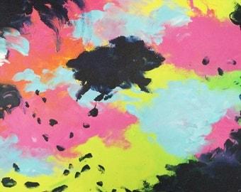 92 - original abstract painting (acrylic on canvas) wall art interior design homedecor