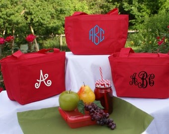 Lunch tote bag, personalized, insulated, monogrammed,cooler,gift, kids, teacher