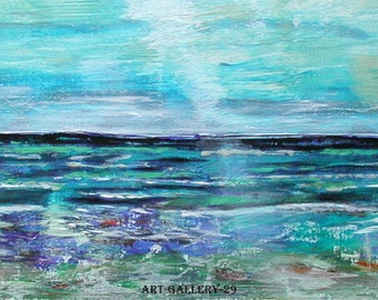 Acrylic seaside: Ebb and flow in Finistère, beachfront panoramic H.ANGIARI / ART-GALLERY-29