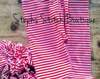 Icing Ruffled Leggings in Stripes