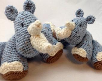 Rhinoceros - Crocheted Amigurumi Doll