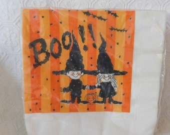 Vintage C.A. Reed Futura Halloween Withces Party Napkins