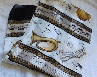Vintage Oblong Musical Scarf
