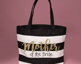 Cute Mother of the Bride Black & White Tote