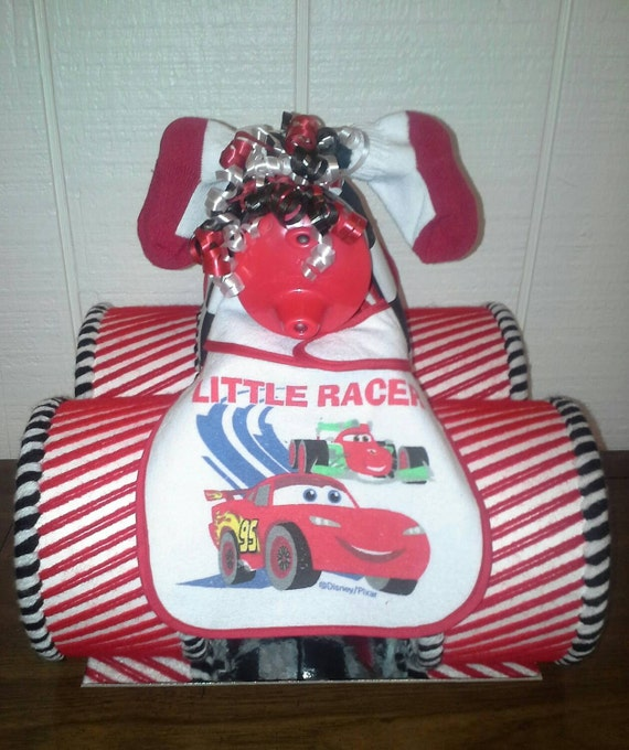 cars themed baby shower lightning mcqueen red black and white four