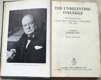 Sir Winston Churchill First Edition - The Unrelenting Struggle 1942