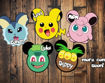 Custom Disney Cruise Mickey Magnets Pokemon pikachu jiggly puff vaporeon