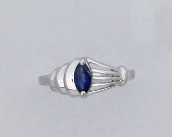 Natural Sapphire Ring 925 Sterling Silver