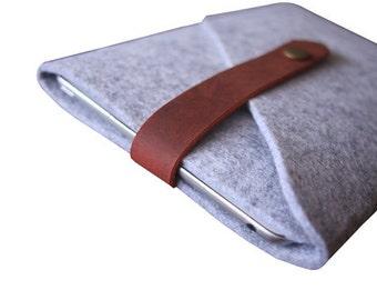 Kindle Case Paperwhite Kobo Sleeve/ Kindle Voyage / Nook Covers / Kobo Glo Bags - Elegant Leather Custom e-Reader Sleeve Case