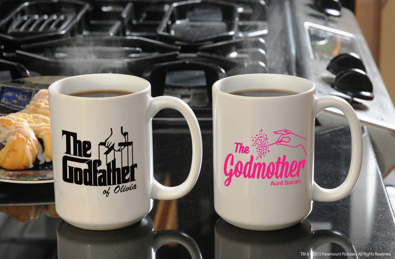 Custom Coffee Mug Set Unique Gifts For Godparents