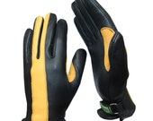 Brazimoto Player Black Gold Deerskin Scooter Motorcycle Gloves