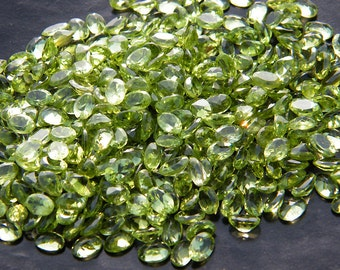 AAA Natural Green Peridot (4x6MM) Oval Shape Faceted Gemstone M-17