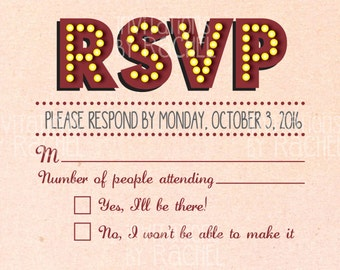 Marquee RSVP card