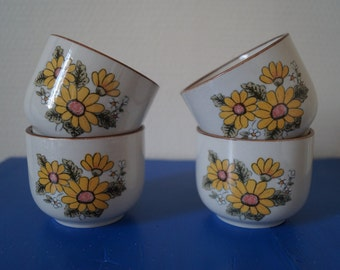 Four Floral Tea Cups