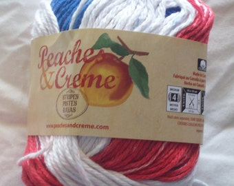 Peaches & Creme Cotton Yarn - Stars and Stripes 2 oz/56.7 g
