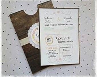 "Wedding card ""Wood"""