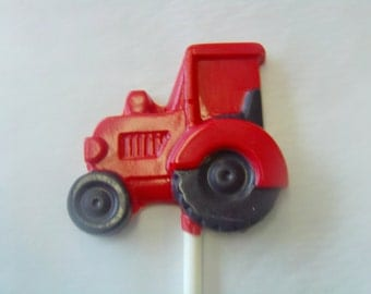 Tractor Candy Lollipops (6)-Perfect for Barnyard/Farm/Cowboy/Western Theme Parties