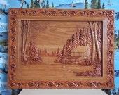 Cabin Wall Decor - Log Ca...