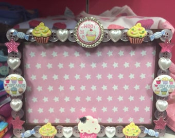 Cupcake Button Picture frame