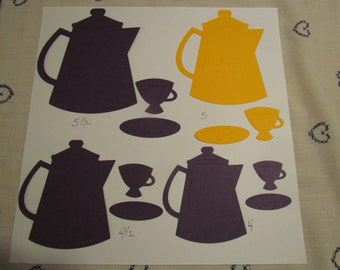 Tea pot die cuts,large