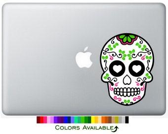 Sugar Skull Laptop Decal